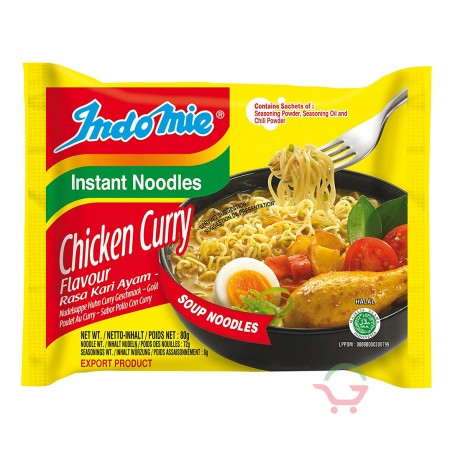 Instant Noodles Chicken Curry Flavor 80g