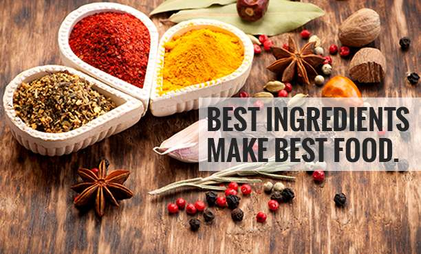 India Best Ingredients. Make Best Food.